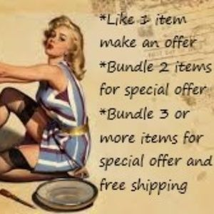 Make an offer or Bundle for special savings